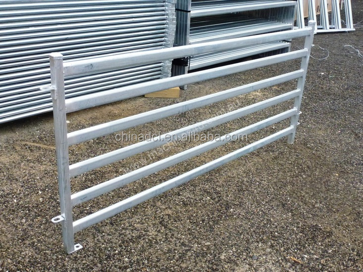 Powder coated horse corral panels used for sheep pen