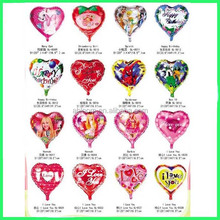 party suply heart shape foil balloon