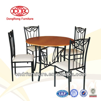 round metal dining set