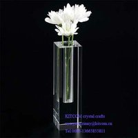 decorative clear crystal tall flower vases