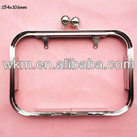 Siver Bead Coin Purse Frame Metal
