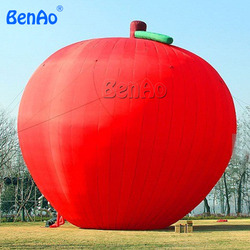 Z049 5m inflatable red apple balloon for sale/Customize red inflatable apple model for sale