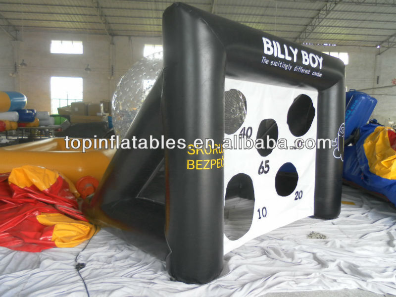 Guangzhou TOP PVC inflatable soccer football goals