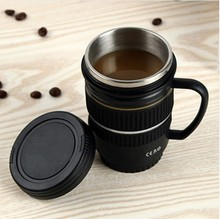 2018 220ml Camera Coffee Mugs Vacuum Flasks 220mL Thermoses Novelty Gifts Lens Stainless Steel Lens Travel Milk Mug with Handle