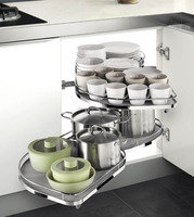 ARENA 1200 - Swing Trays Kitchen Basket With Antislip Trays