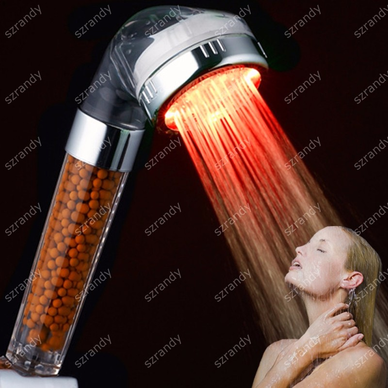 temperature sensor 3 colors rain mist shower head led LD8008-A23