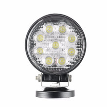 Car accessories 12v 24v 27w led work lamp, 27w led driving lights, 27 watt offroad led work light
