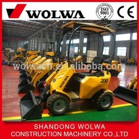 Wolwa small garden tractor wheel loader backhoe GN200 with cheap price for sale