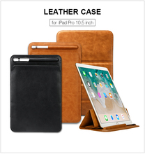 2018 New design Leather sleeve Made in China Leather Cover For ipad Pro10.5 inch Flip tablet Case