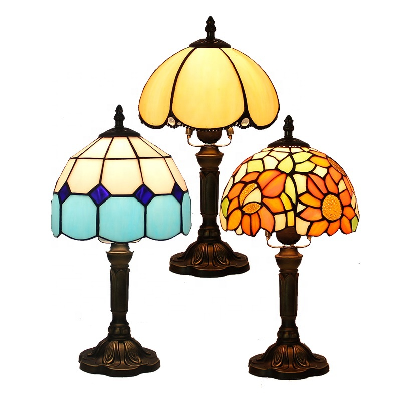 2018 factory price contemporary tifany flower <strong>lamps</strong> tiffany table <strong>lamp</strong> for living room wholesale