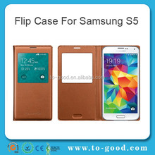 2015 Newly Products China Mobile Phone Case,Top Quality Luxury Case For Samsung Galaxy S5 Case(Brown)