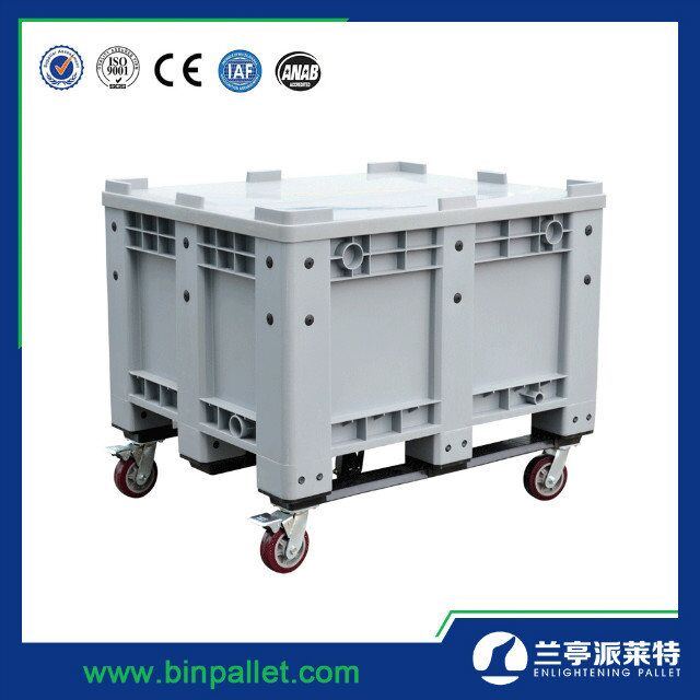 heavy-duty plastic storage box/container with wheels