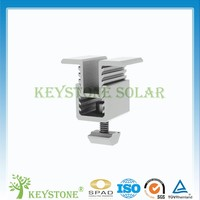 Newest lowest adjustable soalr mid and end clamp for solar panel mounting structure