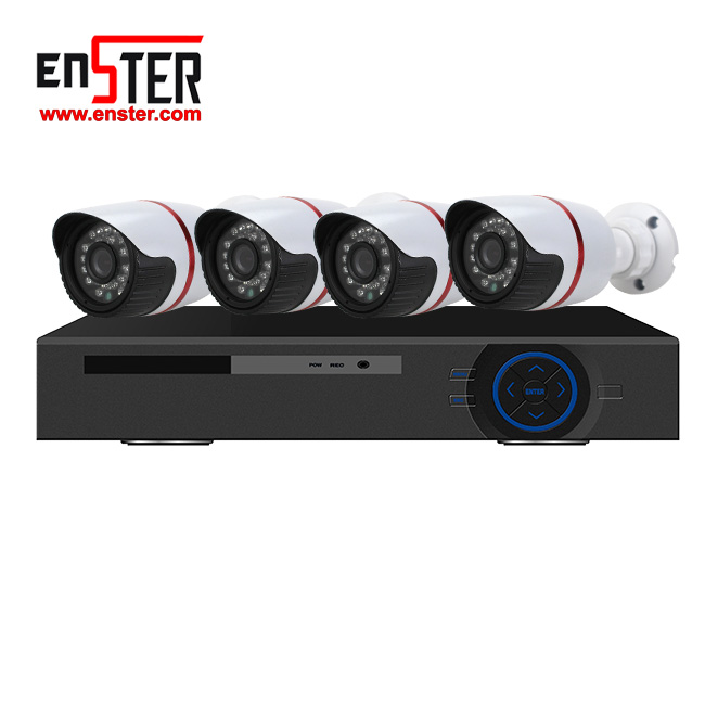 security camera dvr kit CCTV system HDMI/VGA output 1 HDD h.264 network 4ch NVR KIT security device with free mouse