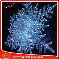 Clear decorative christmas decor white acrylic snowflake