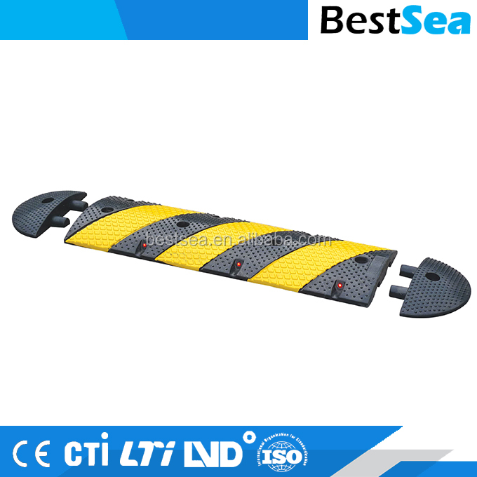 Rubber speed hump wholesale, durable speed bump
