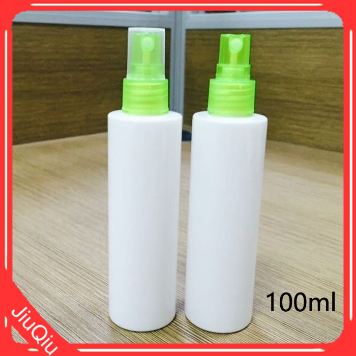 White Sprayer pump mini Plastic PET bottle 100ml