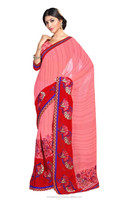 Designer party wear chiffon online saree