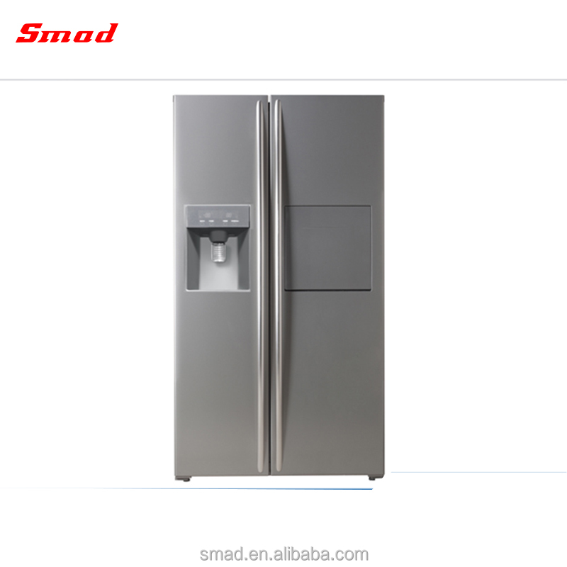 Side By Side double Door Fridge Freezer Stainless Steel <strong>Refrigerators</strong>