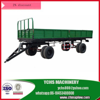 Heavy duty tractor trailed tipping trailer in strong fram