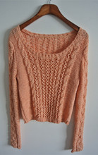 Girls cable stylish knitted pullover sweater