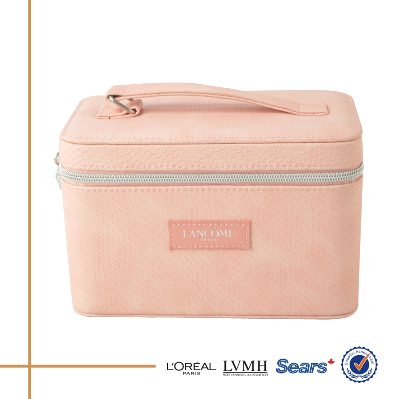 Wholesale new trending hot products cosmetic makeup suitcase with zipper