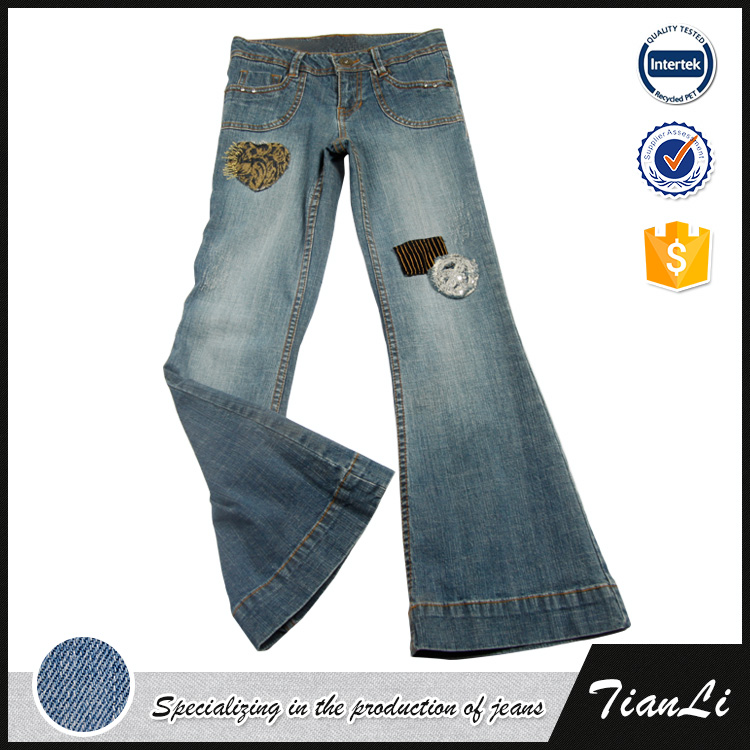 European Size Fall Latest Design Jeans Pants For Girl