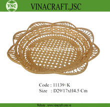 Bamboo vegetable storage basket for hot sales
