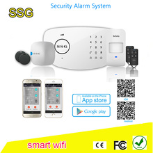 China proffional manufacturer Internet+GSM dual network alarm system SSG-T6 touch with RFID PIR motion sensor door/window sensor