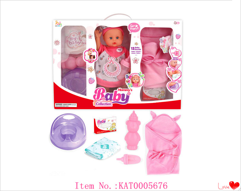 Popular Children Doll Sets Toy And Hot Sale 13 Inch Baby Doll Toy Sets With Bottle And So On