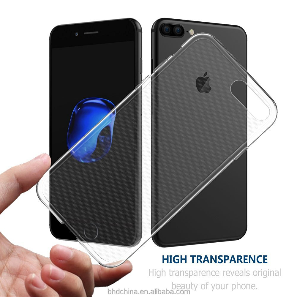 for apple for iphone 7 plus 6 6s plus 5s 5 SE 4s 4 Ultra Thin Crystal Clear Transparent Soft Silicone TPU Case Cover