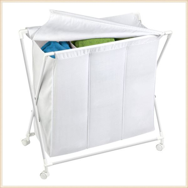 Laundry Clothes Bag Sorter Hamper Storage Rolling Laundry
