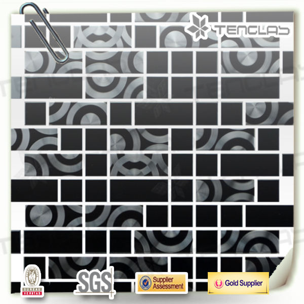 popular round pattern silver stainless steel mosaic