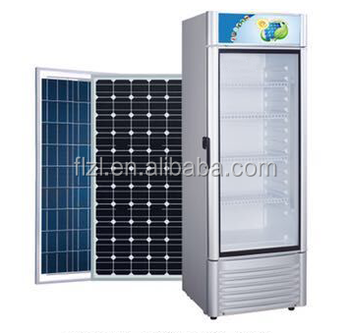 280L dc 24v solar commercial cooler fridge /display/showcase