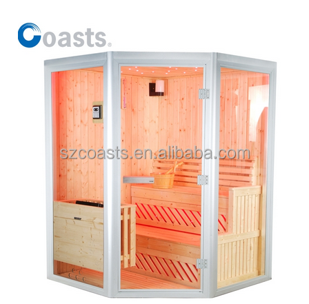 2015 sauna steam room combination with colorful light