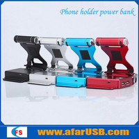 Smart phone/pad holder power bank
