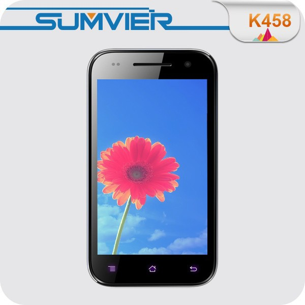 4.3 inch AMOLED screen Quad core MTK6582 android non camera phone