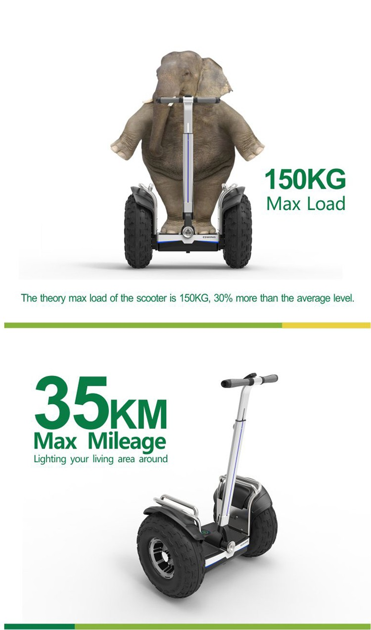 Classic Silver Aluminun Body XP6 Stronge Power Motor Mountain Electric Scooter