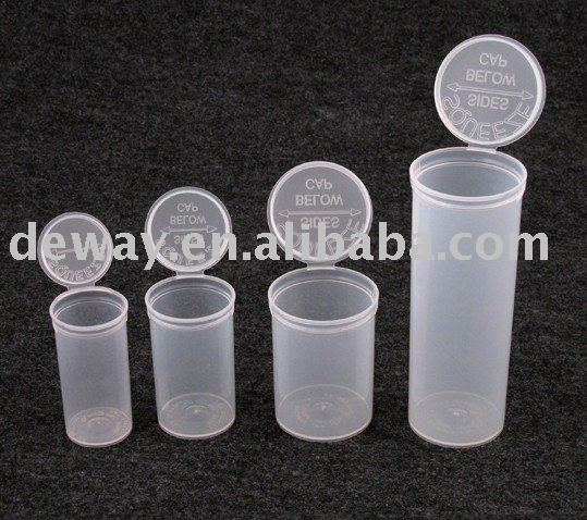 2017 lowest price plastic pop up vials 13dram,19dram,30dram,60dram,98mm doob tube