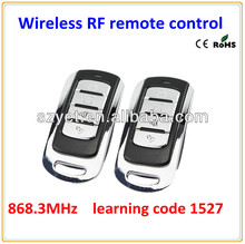 868.3MHZ learning code 1527 remote control, rf remote control YET074