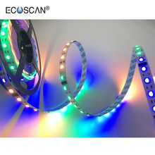 ECOSCAN chinese online sales site dream color 60LED/m 19.2W/m DMX512- Addressable computer controlled led strip
