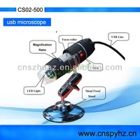 8-LED Illumination 500X Zooming Digital USB Microscope with measurement software up to 500x magnification
