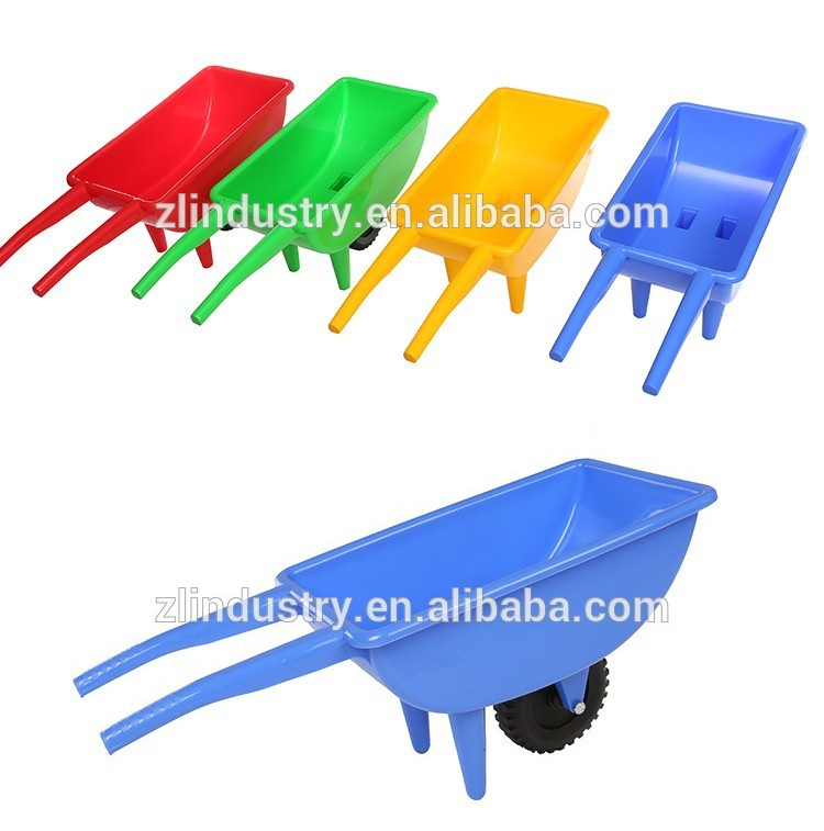 Home outdoor play sand solid wheel children plastic kid wheelbarrow