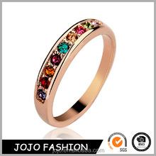 New Style cheap alloy 3 colors magic colorful and beautiful diamond ring jewelry for men women