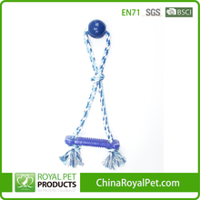 Royal Pet Products Custom Pet Toy Cotton Rope Dog TPR Ball and Rope Tug