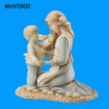 Art statue popular Figurines Mother and Son
