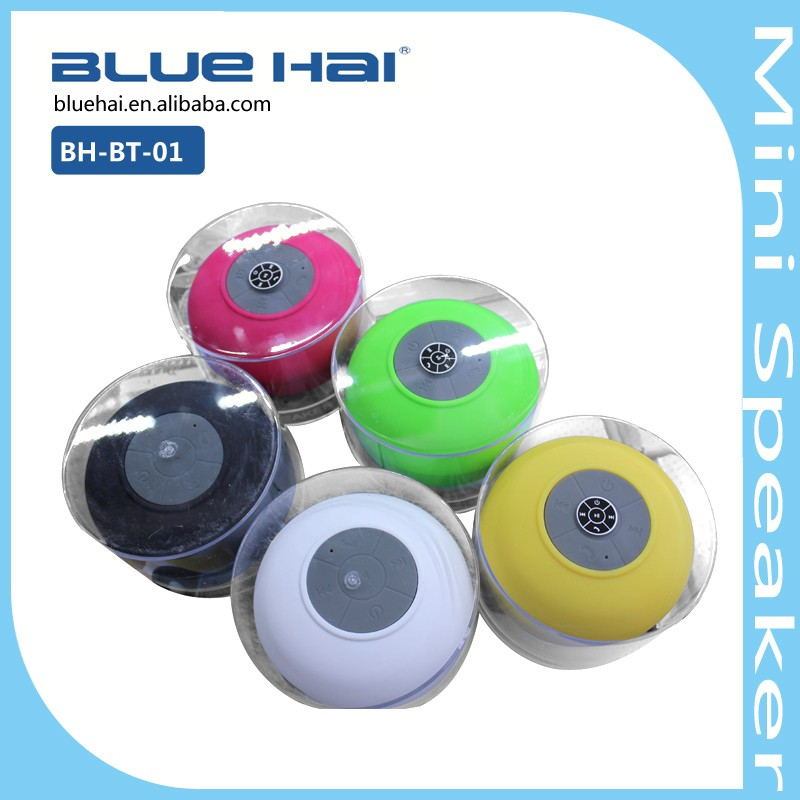 Best Selling Waterproof Bluetooth Mini Microphone Portable Speaker with Rubber Housing