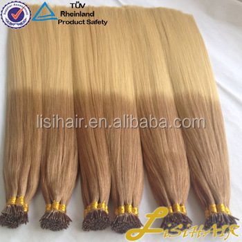 2016 Best Selling Factory Price Soft Smooth 100% Temple Indian Hair Keratin Pre Bonded Ombre U Tip Hair Extension