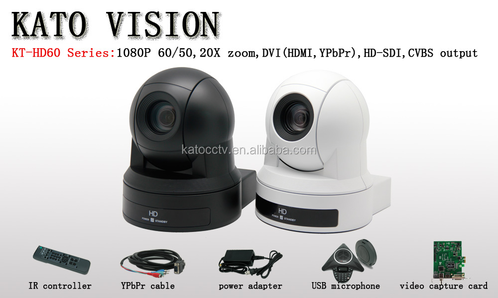 HD 1080p Video Conference Camera with DVI,HD-SDI output for Web Conferencing