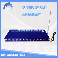 2016 New avoid sim blocking Sk32-128 gsm gateway with free international calling device/vouchers and voip credit